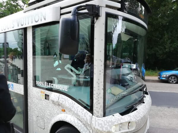 ルイヴィトン美術館フォンダシオンルイヴィトン シャトルバス