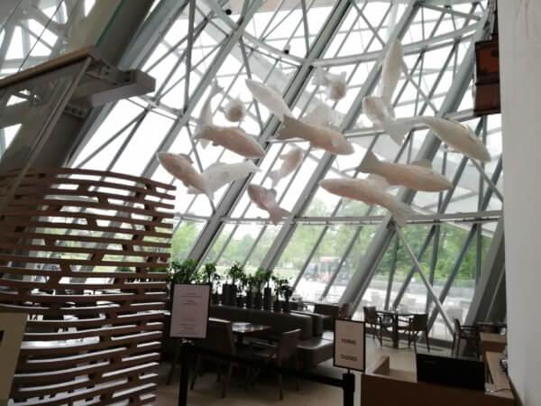 ルイヴィトン美術館のレストラン LE FRANK ル・フランク