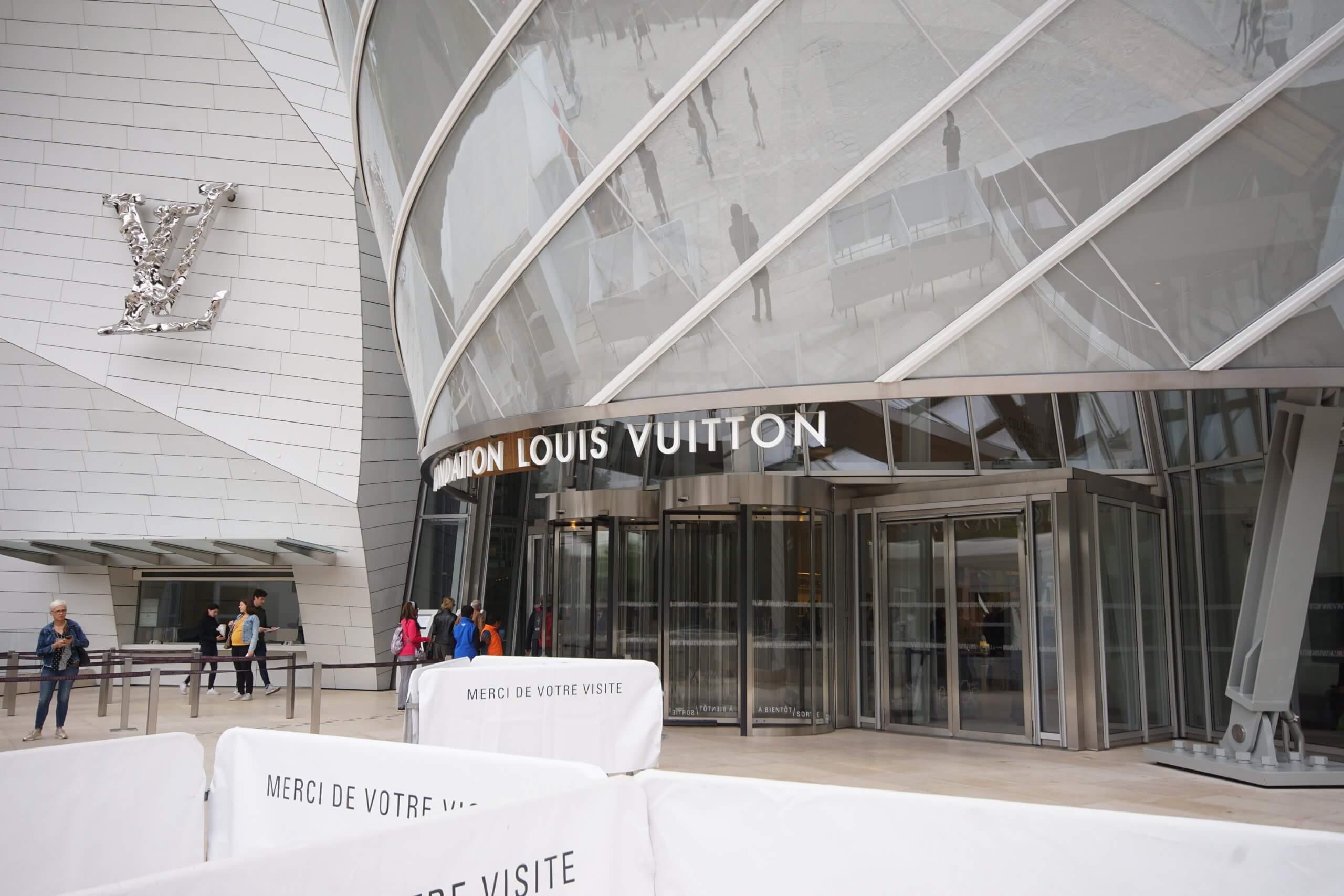 ルイヴィトン美術館入り口