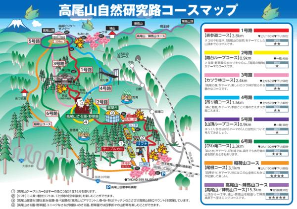 高尾山ルーチマップ
